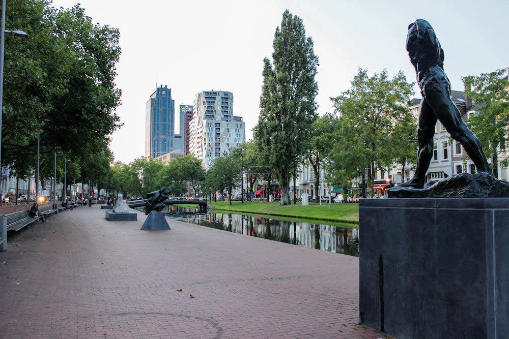 Art Route in Rotterdam, Kunst route in Rotterdam, Witte de Withstraat, Museumpark, Westersingel, Luchtsingel, Hofbogen