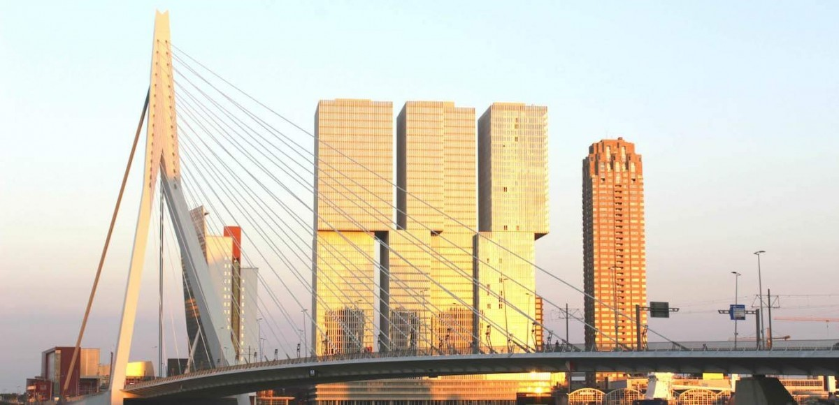Erasmusbrug Rotterdam Highlights, routes in Rotterdam