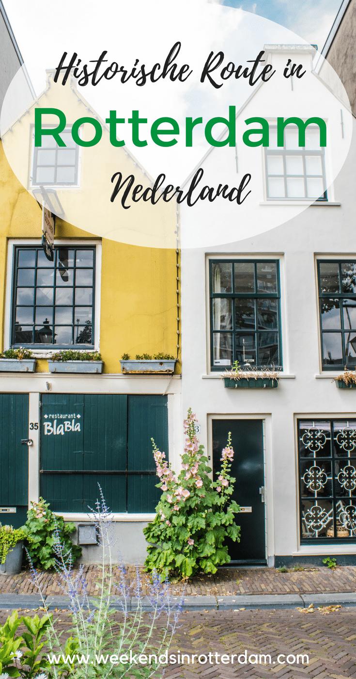 Historische Route in Rotterdam | Leer over de Rotterdamse historie | Routes in Rotterdam | dagtrip in Rotterdam | Delfshaven Rotterdam | Oude Architectuur Rotterdam | Rotterdam, Nederland | Rotterdam, Holland | dingen om te doen in Rotterdam | #HistorischRotterdam | #WeekendsinRotterdam
