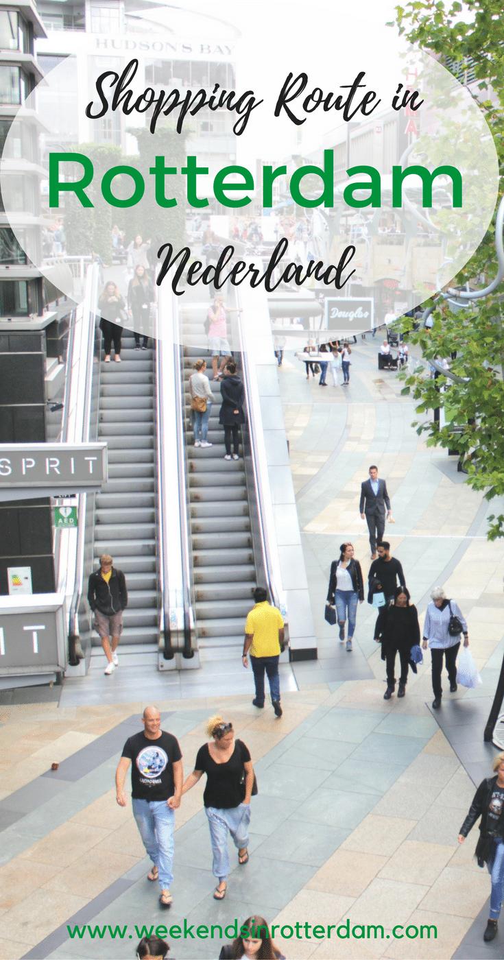 Zara, H&M, Forever 21, Urban Outfitters, Bershka en Weekday hebben allemaal een plekje in deze mooie stad. Maar daarnaast zijn er ook genoeg leuke vintage zaakjes of unieke boetiekjes waar je mooie items kan scoren. Om je een beetje wegwijs te maken als je in Rotterdam komt shoppen lees je hier een gangbare route waarbij je zoveel mogelijk winkels in een dag kan bezoeken. #WeekendsinRotterdam #ShoppeninRotterdam #shoppen #shoppeninNederland #Rotterdam #weekendjewegRotterdam