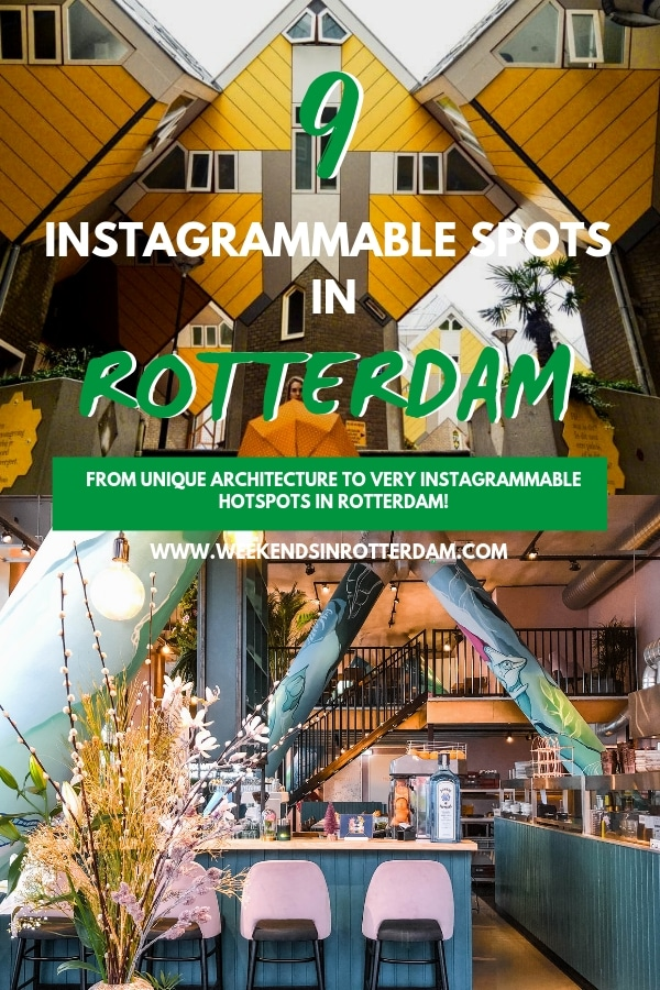 There are a lot of Instagrammable spots in Rotterdam! It really is a very photogenic city in the Netherlands. From unique architecture and lots of street art to very Instagrammable hotspots, in this article you can find the best places if you're looking to spice up your Instagram feed! #Rotterdam #TheNetherlands