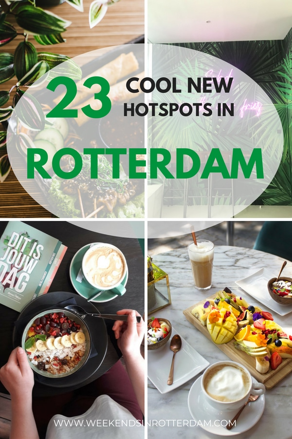Each week, cool new hotspots are opening in Rotterdam! In this article we share 23 new hotspots in Rotterdam, the Netherlands, that are definitely worth visiting! #Rotterdam #TheNetherlands