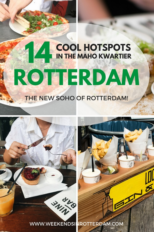 MaHo Kwartier in Rotterdam is a fun area with cute shops and restaurants. It's also dubbed as the new SoHo of Rotterdam, the Netherlands! In this article you can find 14 cool hotspots in the MaHo Kwartier! #Rotterdam #MaHoKwartier #TheNetherlands