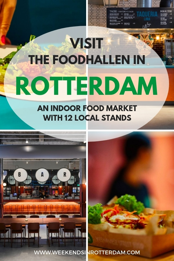 At Foodhallen Rotterdam you can find the best from Rotterdam in terms of food, lots and lots of food and drinks! Twelve local restaurants from Rotterdam have moved into the Foodhallen to serve the best from our city. Next to local food, there is also a central bar that serves Rotterdam drinks, such as beer from Kaapse Brouwers and Bobby's Gin from Schiedam. A bit too early for a strong drink? Move along to the coffee corner and relax there until the other stands have opened. You can even stay at the design hotel Room Mate Bruno which is also located in the monumental Pakhuismeesteren building.