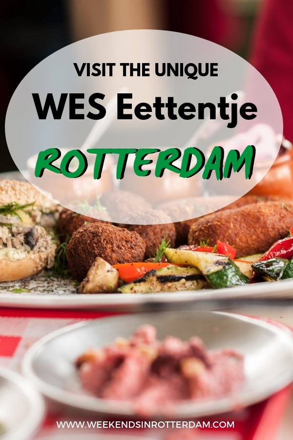 WES Eettentje in Rotterdam Noord is a unique hotspot with a cinematic interior that is inspired by director Wes Anderson. Julia went by and tried their delicious Jewish-Persian cuisine. If you're looking for a special place to eat in Rotterdam, go here! #Rotterdam #Wes #Weseettentje