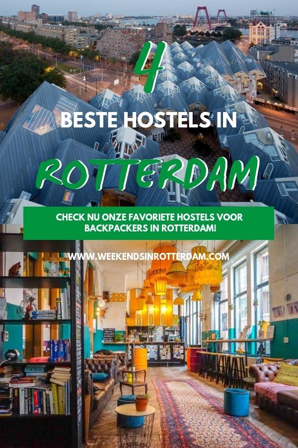 Als je door Nederland of Europa reist, is Rotterdam zeker een stad die je niet mag missen! Indrukwekkende architectuur, een top nachtleven, super veel lekkere restaurants en eigenlijk alle winkels die je nodig hebt voor een geslaagde shop dag. Maar als je het échte Rotterdam wilt ervaren, is één dag natuurlijk niet genoeg. Daarom deel ik in dit artikel de 4 beste hostels in Rotterdam! #Rotterdam #hostelsrotterdam